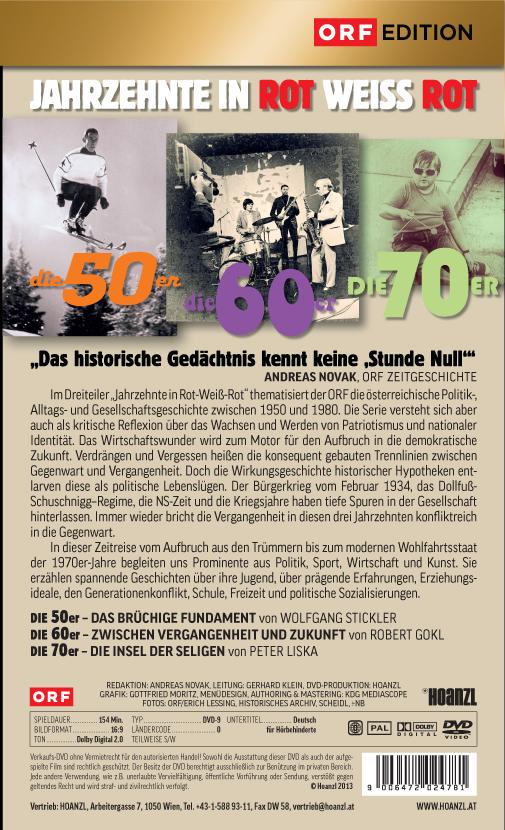 Jahrzehnte in Rot-Weiss-Rot: Die 50er, 60er, 70er