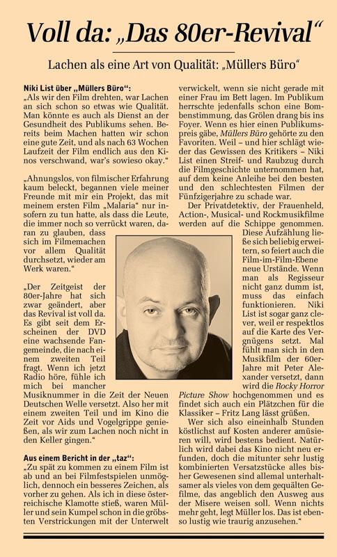 Müllers Büro Berlin 030 müllers büro niki list dvd schmidt christian vitasek