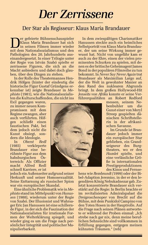 #038: Georg Elser - einer aus Deutschland (Klaus Maria Brandauer)