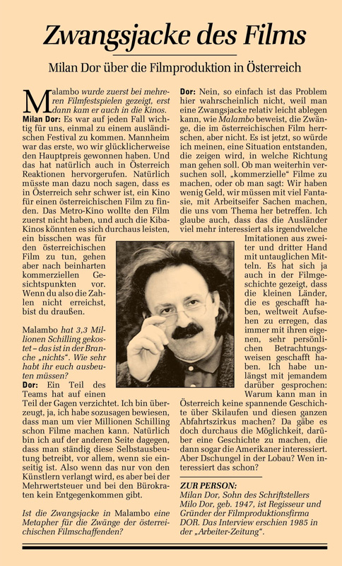 #063: Malambo (Milan Dor)