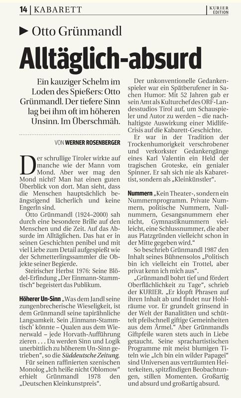 #014: Der Einmannstammtisch / Politisch bin ich vielleicht ein Trottel, uvm.